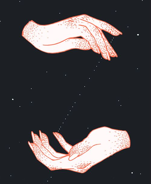 eatsleepdraw: Hands, Stars by Ilana Hope Art