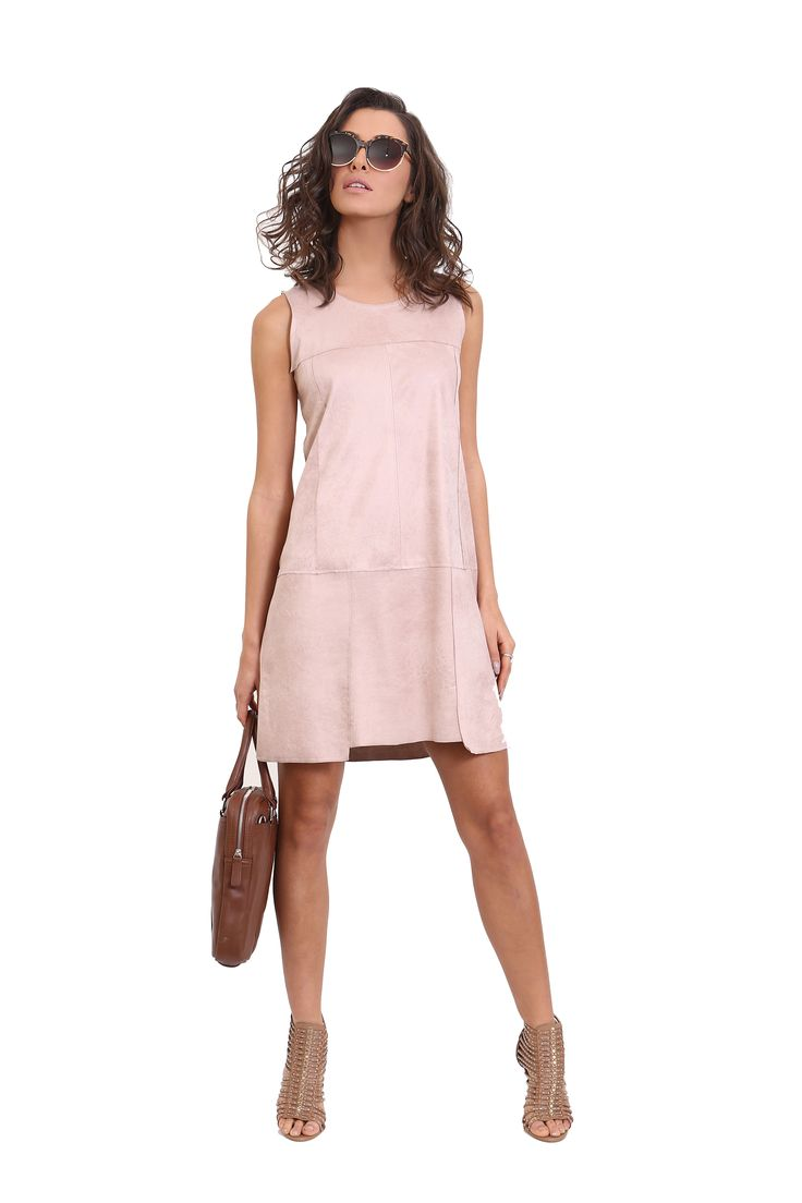 A Midi Dress Leather like Fabric A Must For Evert Classic Woman.