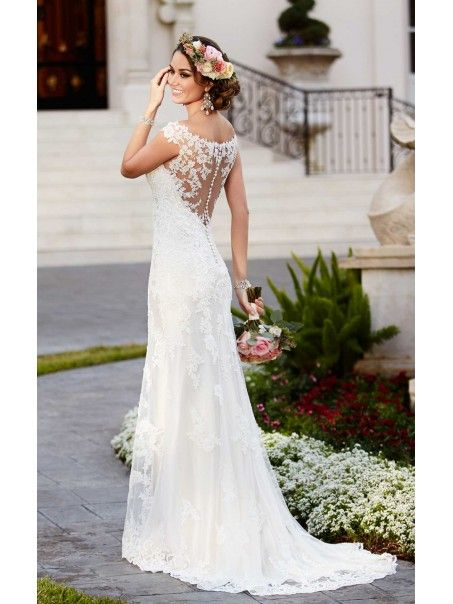Stunning Lace Off-the-Shoulder See Through Wedding Dresses Bridal Gowns 3301164