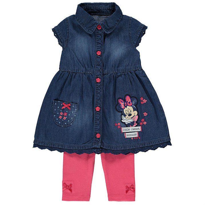 Vauvan Disney Minni Hiiri mekko ja legginsit asu