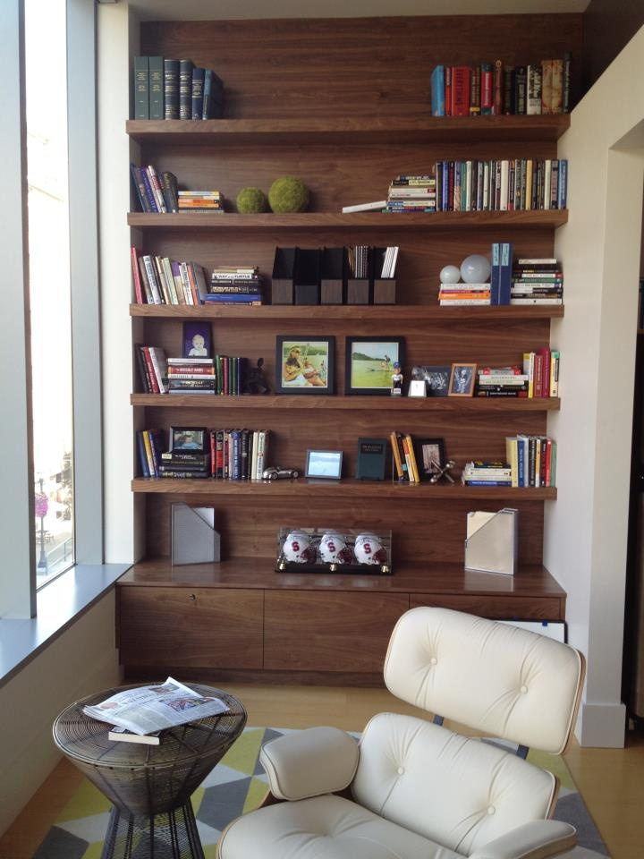 custom walnut built-in for home office by vanillawood