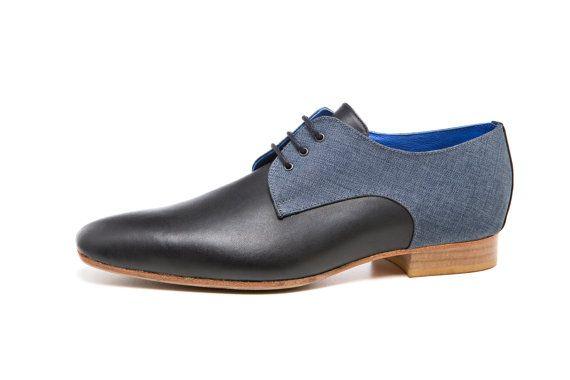 30% off! -Flat Shoes - Mens Shoes - black Derby shoes - black shoes - mens Derby shoes - mens dress shoes - leather shoes