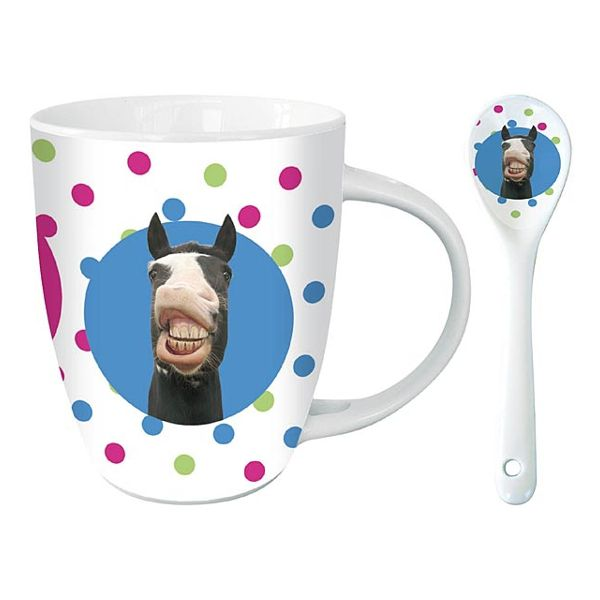 Mugg Hästmotiv Funny Horse