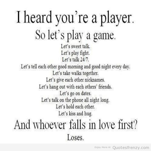 Player Quotes: Quotes About Being A Player. QuotesGram