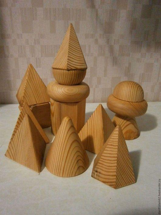 Развивающие игрушки ручной работы. Геометрические фигуры. Мастерская деревянных поделок. Интернет-магазин Ярмарка Мастеров. Геометрия, моторика, тор