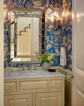 Door Fixture Powder Room  Jan Gleysteen Architects, Inc. Chic BathroomsDream  BathroomsBeach ...