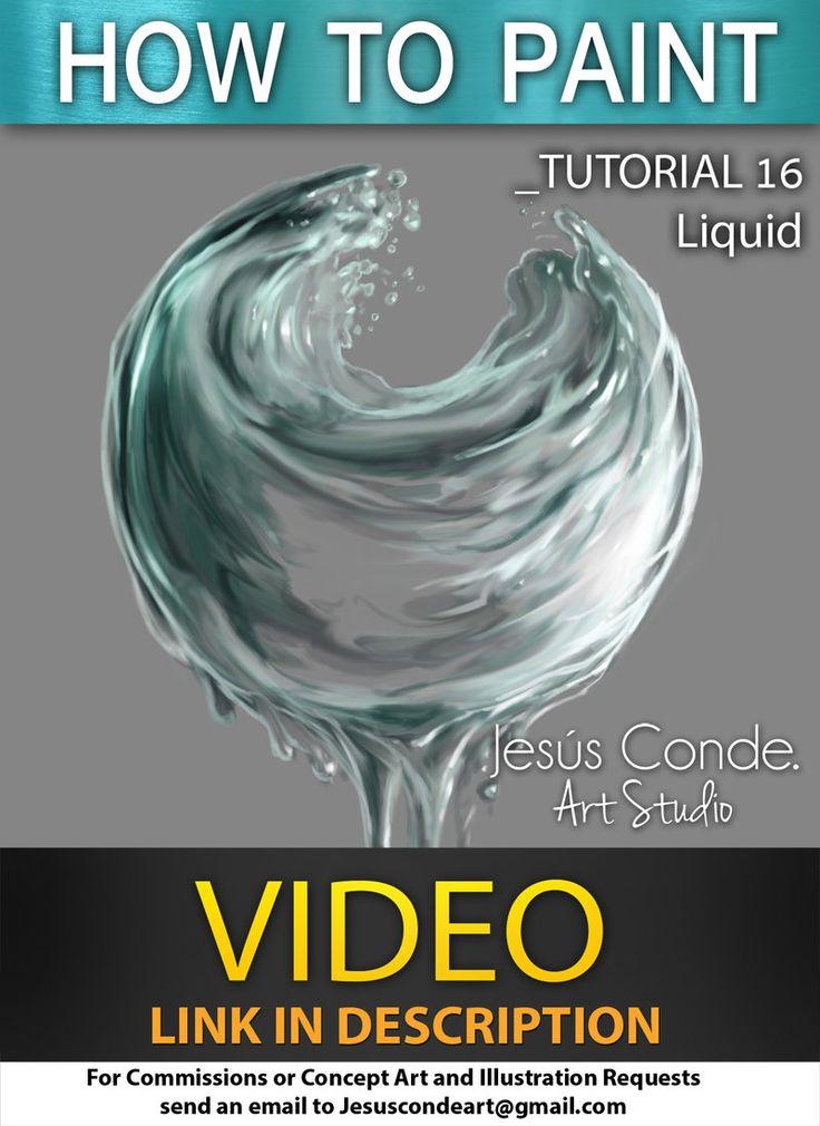 How To Paint Liquid by JesusAConde on deviantART via PinCG.com