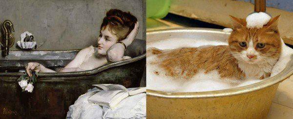 Альфред Стивенс, «Женщина в ванне» (1867)