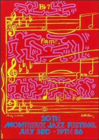 キース・へリングのポスター「Keith and Andy and Andy Mouse」(1986) : ガレリア・イスカ通信