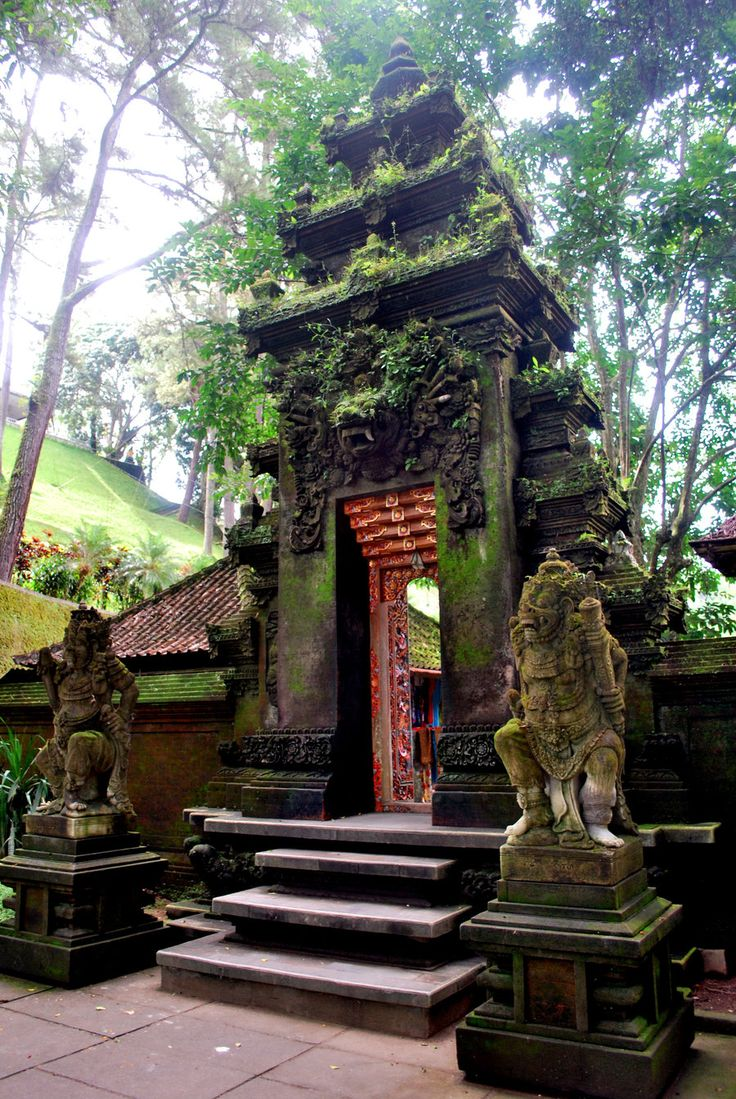 Bali….the AFSers stayed with a prince in Bali at a compound like this.