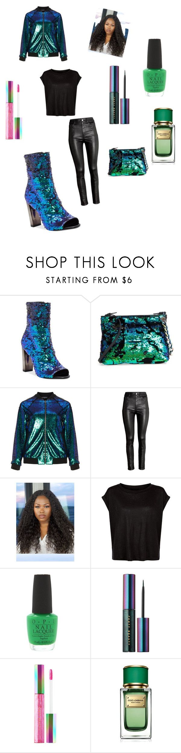 """Trina"" by whitmo on Polyvore featuring Jessica Simpson, Kendall + Kylie, Manon Baptiste, H&M, OPI, Puma, Dolce&Gabbana and plus size clothing"