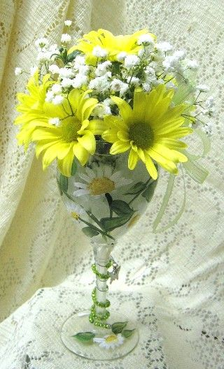 flower arrange in wine glass    Attached Image: More pics for facebook 020.jpg