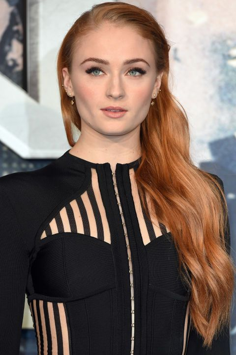 11 best hair colors for summer: Sophie Turner turned heads in this ginger beach waves hairstyle
