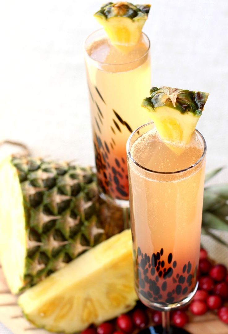 Island Champagne Cocktail is perfect for bringing yourself to a warm beach vacation! from @mantitlement