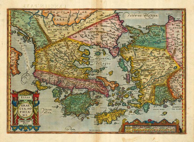 Graecia, Sophiani. Abrahamo Ortelio descriptore. -Antwerp, Christopher Platin 1598