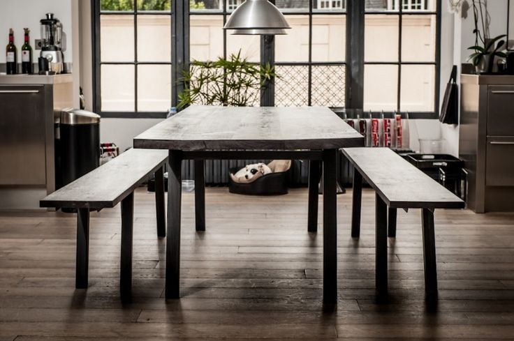 9 best bancs de cuisine images on pinterest dining table poufs and chairs. Black Bedroom Furniture Sets. Home Design Ideas