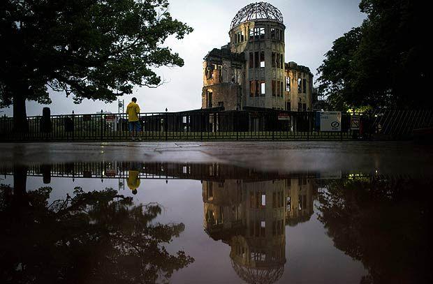 Memorial da Paz de Hiroshima, ou Domo Genbaku; Barack Obama visita cidade bombardeada em 1945