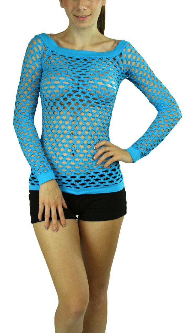 Long Sleeve Fishnet Shirt.