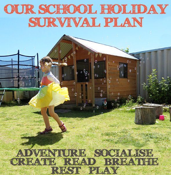 Our School Holiday Survival Plan | Childhood101