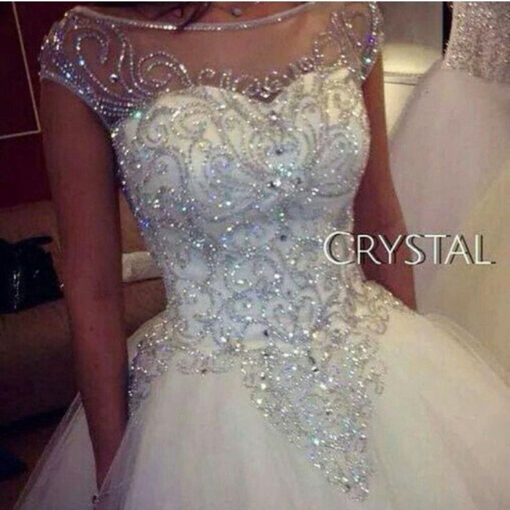 Ball Gown Wedding Dresses 2015 New Gorgeous Dazzling Princess W1455 Bridal Real Image Luxurious Tulle Handmade Rhinestones Crystal Sheer Top Tulle Ball Gown Wedding Dresses Wedding Designer Dresses From In_love, $150.88| Dhgate.Com