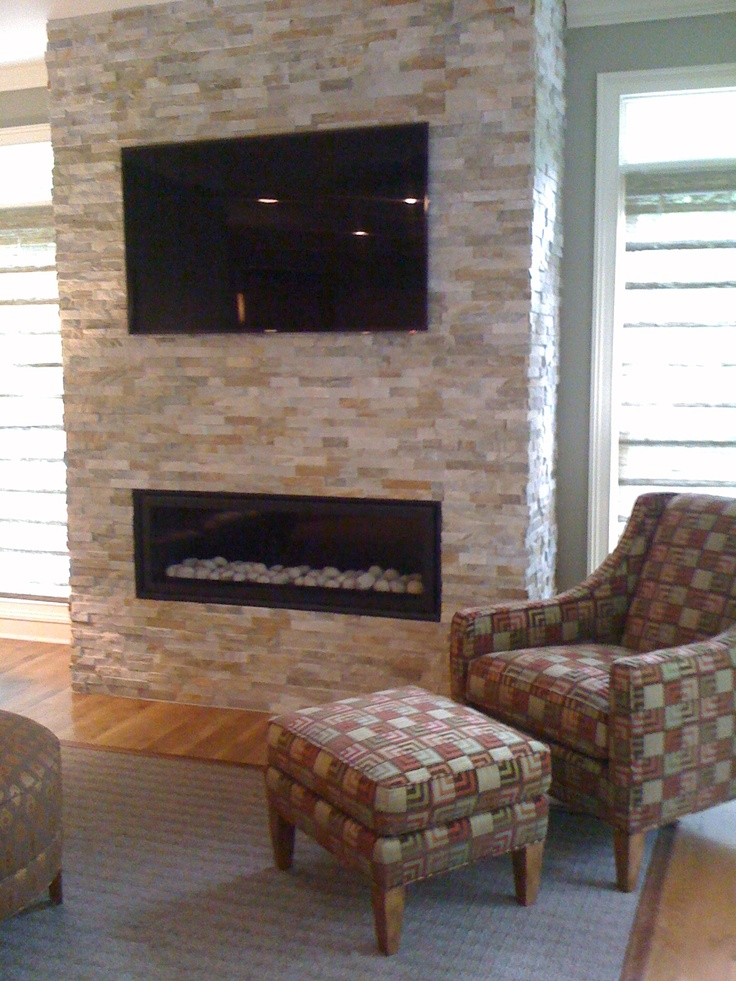 Accent wall - Anatolia Tile Ledgerstone Beachwalk : Ledger ...