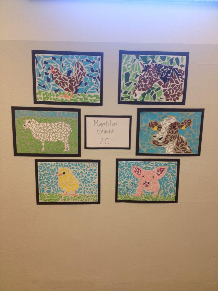 Ryhmätyöt maatilan eläimistä