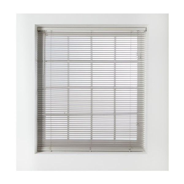 HOME Wood Venetian Blind 4ft Grey (£31) ❤ liked on Polyvore featuring home, home decor, window treatments, window blinds, wooden window treatments, wood window blinds, wooden blinds, grey blinds and wooden window blinds