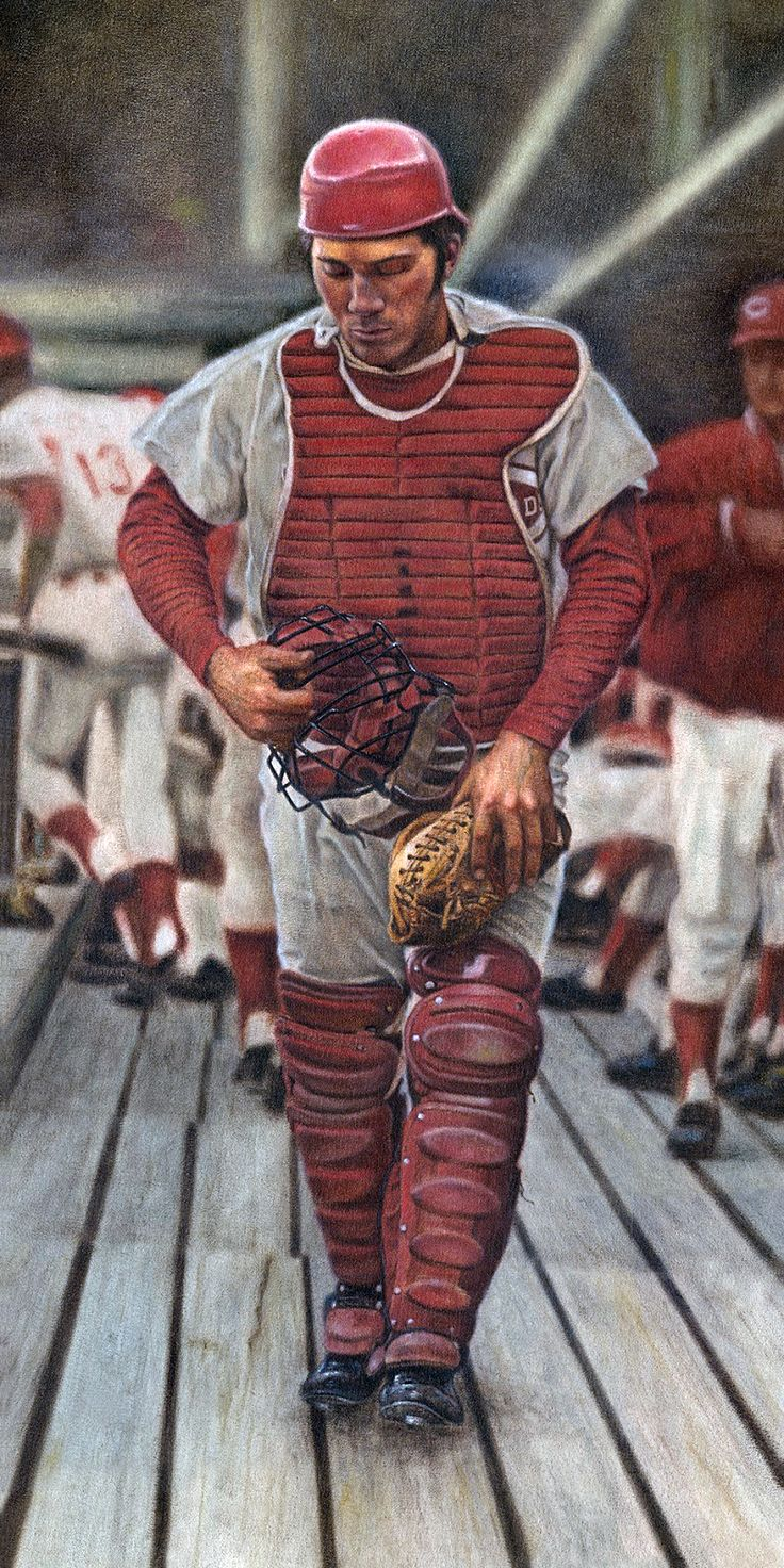 Johnny Bench,Cincinnati  Reds by Mike Kupka