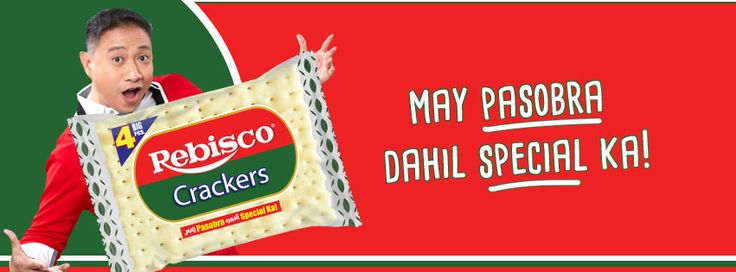 The newest slogan of Rebisco Crackers-brand elements