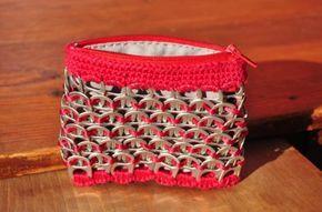 Monedero hecho con anillas de lata - artesanum com
