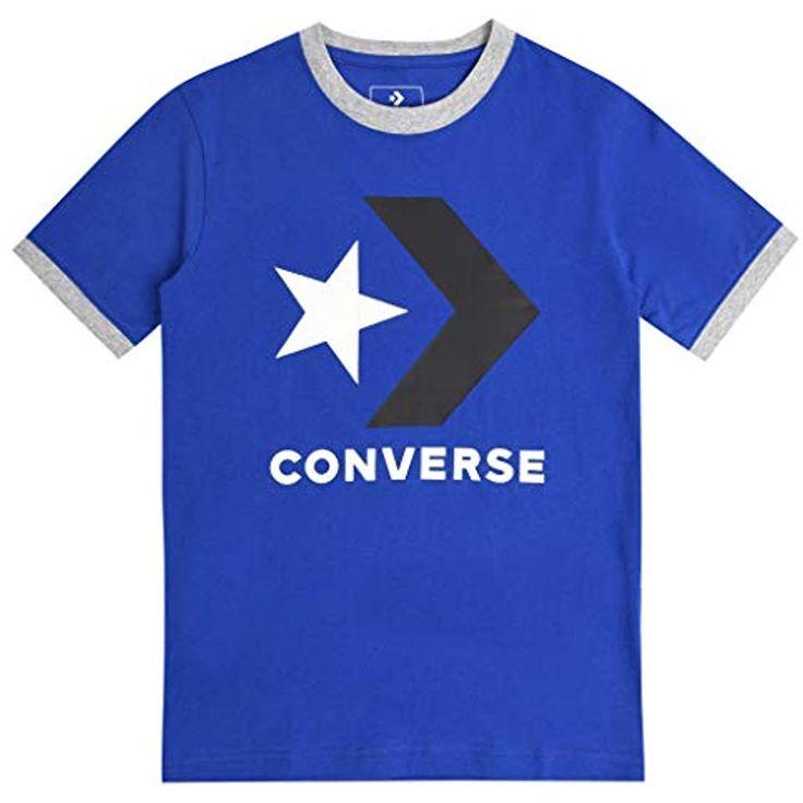 Converse Jungs T-Shirt Star Chevron Rundhals Blau 13-15 Years #Bekleidung #Junge…
