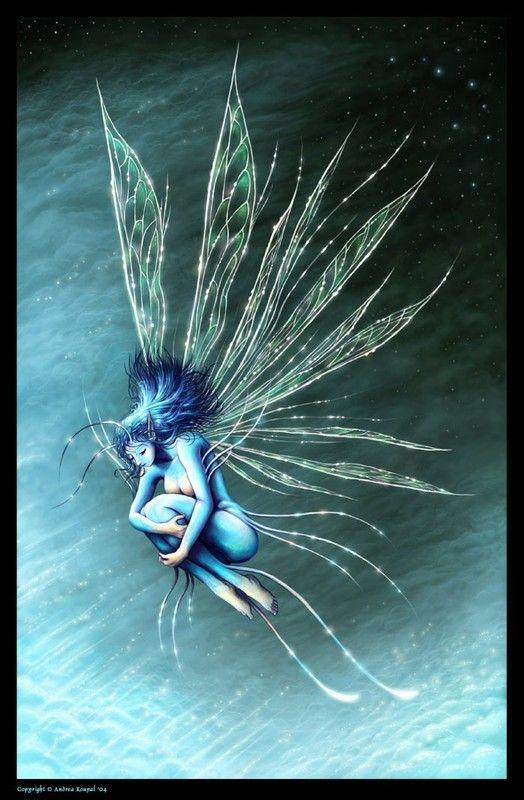 Blue feerie fantasy f es elfes pinterest elfes f e et feerie - Dessin elfes et fees ...