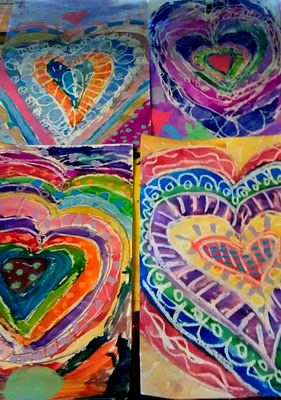 hearts inspired by jim dine
