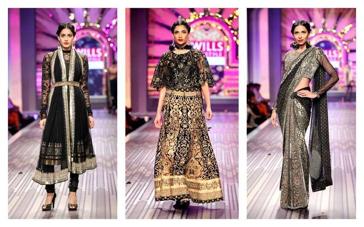 Three strong and graphic looks from our #WIFW grand finale collection.