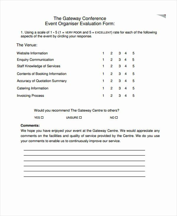 Event Feedback Form Template Inspirational 30 Event Evaluation