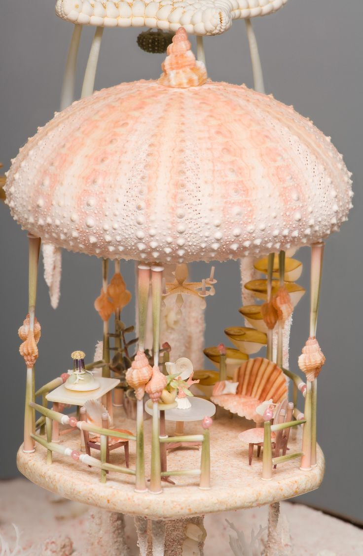 peter-gabriel-miniature-mermaid-dollhouse: Of course there's a miniature miniature dollhouse on side table there ↑.