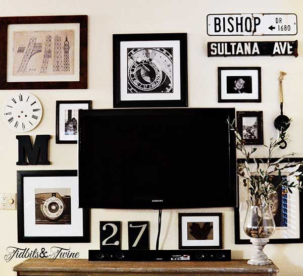 My Gallery Wall Reveal {from Drab to Fab!}