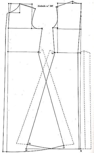 Moldes sastre para hacer sotana romana