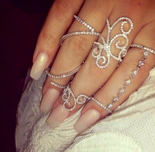 sparkly knuckle rings accessories shoes amp nails