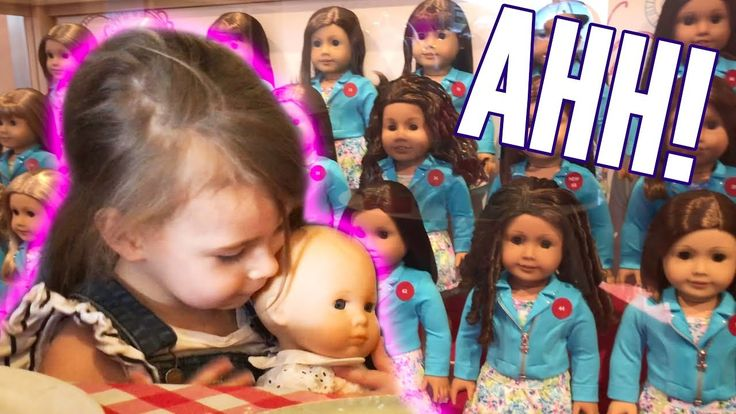Violet Goes to the American Doll Store- and It's CRAZY   LeeshaVlogs
