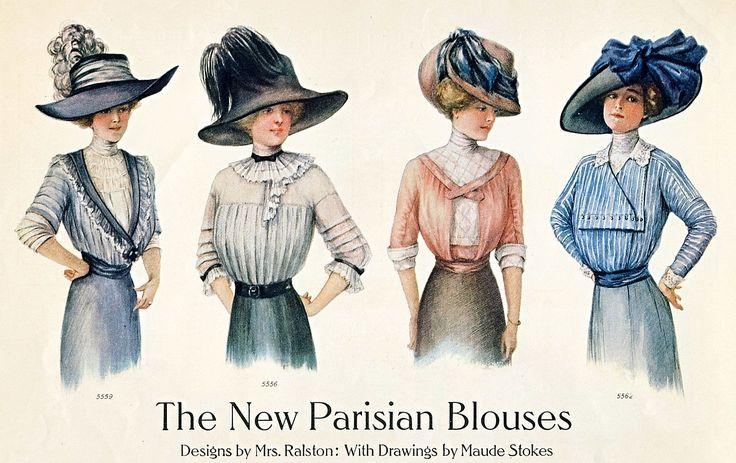 September 1910 issue of Ladies Home Journal: Paris Fashion, Fashion 1910, Vintage Fashion, 1910 Paris, 1910S Fashion, Blouses 1910, Parisians Blouses, Fashion Posters, Belle Epoque