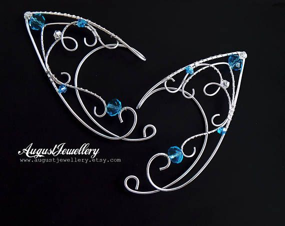 Elven Ear Cuffs - Silver Elven Ear Cuffs - Fairy Ear Cuffs - Elf Ear Cuffs - Elven Ear Wraps - Ear Cuffs - Fairy Ear Wraps - Halloween
