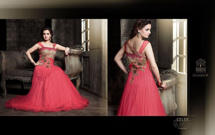 Ethnic Bollywood Gown Salwar Wedding Designer Pakistani Indian Partywear Kameez…