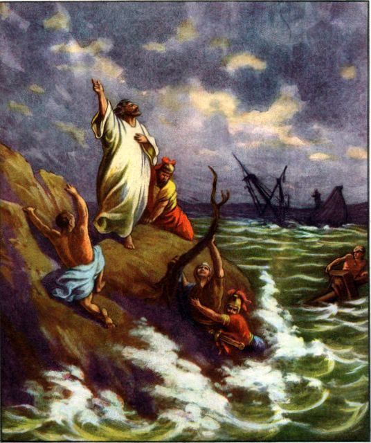 Paul Shipwrecked Acts 27:41-44