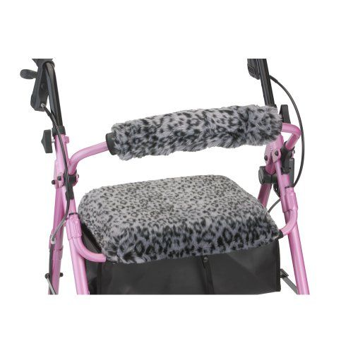 NOVA Medical Products Seat & Back Cover for Rolling Walker, Snow Leopard