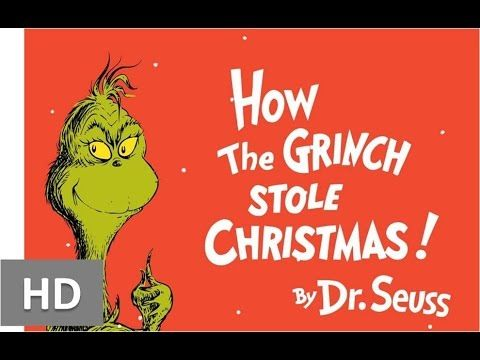 how the grinch stole christmas book version read aloud and slightly animated illustrations