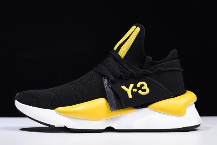 43dad1e30bb15 adidas Y-3-kaiwa Chunky Primeknit Black Yellow-White AQ2931 in 2019 ...