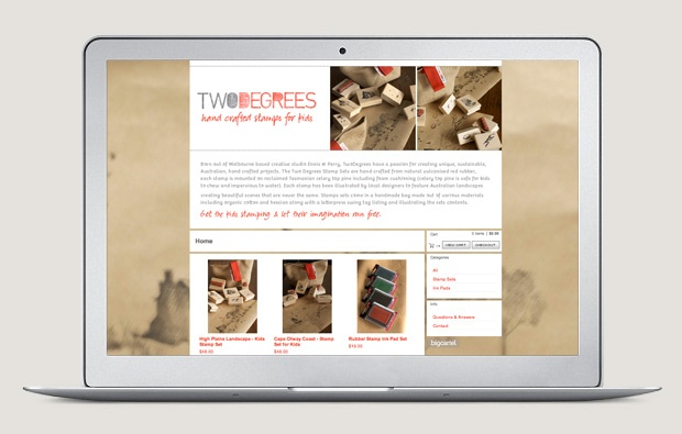 Two Degrees website by Ennis & Perry Creative, Melbourne