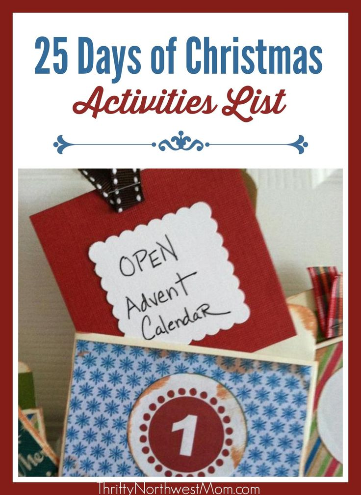We have a big list of activities for the 25 Days of Christmas activity in December. This is a fun idea to do with your family as you countdown to Christmas and as an Advent activity.