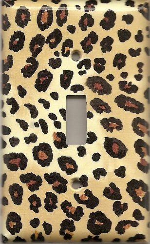 would be perfect for my room! Leopard Cheetah Decorative Light Switch Cover Plate - decorativeswitchp...